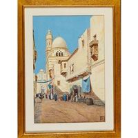 the blue mosque, cairo by vittorio rappini