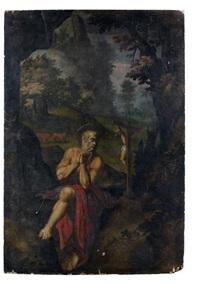 saint jérôme dans le désert by girolamo muziano