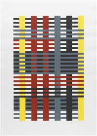 connections/1925-1983 (portfolio of 9 w/justif.) by anni albers