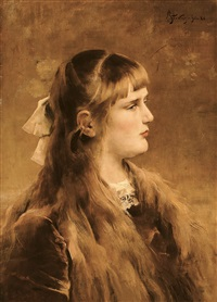 portrait de jeune fille by alfred stevens