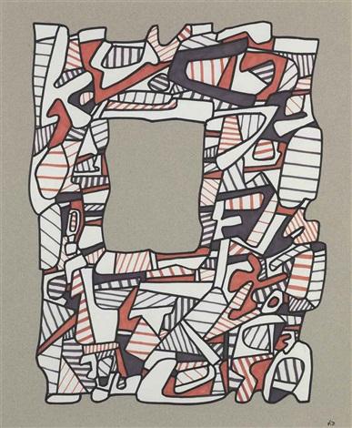 fenêtre ii by jean dubuffet