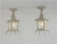 ceiling lights (pair) by claire cormier-fauvel