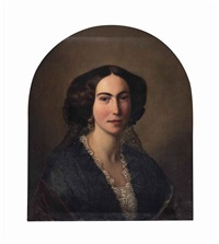portrait of a lady, half-length by continental school (19)