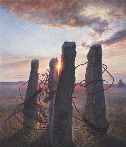 sunset traces of civilization by nikolai alexeievich kasatkin