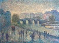 paris : pont sur la seine by stan reszka