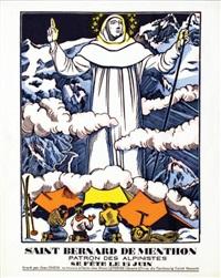 saint bernard de menthon patron des alpînistes by jean chieze