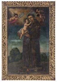 san antonio de padua (coronado y asistido por ángeles) by mexican school (17)