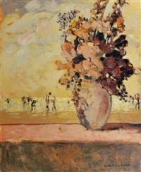 fleurs devant la plage by alain fournier