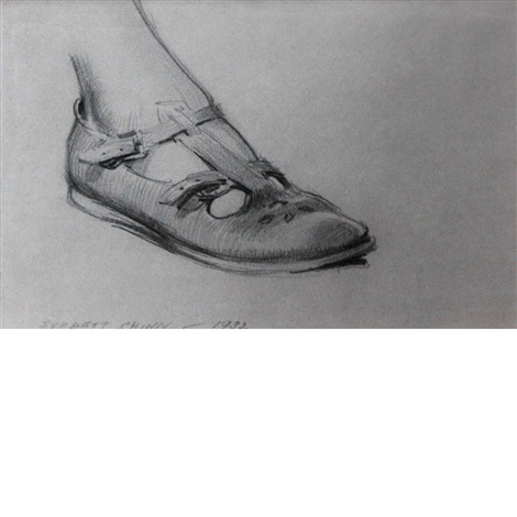 study of foot and sandal florence scovel shinn study of clenched hand 2 works by everett shinn