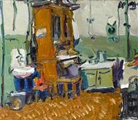 kitchen scene by valery nikolaievich lukka