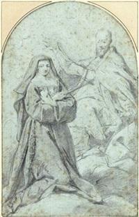 saint françois de sales et sainte jeanne de chantal by jean restout the younger