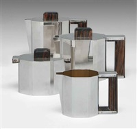 tea & coffee set (set of 4) by gérard sandoz