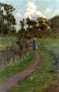 figure on a path, brittany by william sergeant kendall