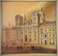 vistas y edificions de madrid con sus alrededores en la   epoca romantica (album con 15 aguadas,63 dibujos y 12 grab.) by jose m. aurial y flores