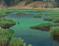 marsh landscape by oscar b(rousse) jacobson