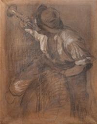 clarín (boceto para grito de asencio) by carlos maría herrera