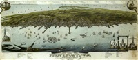 eye view of provincetown, barnstable county, massachusetts by beck & pauli