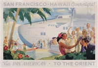 san francisco-hawaii overnight!/via pan american - to the orient by frank macintosh