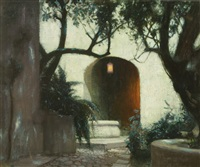twilight in the courtyard by hermann dudley murphy