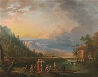 paysage animé by jean baptiste charles claudot