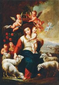 the coronation of the virgin by miguel cabrera