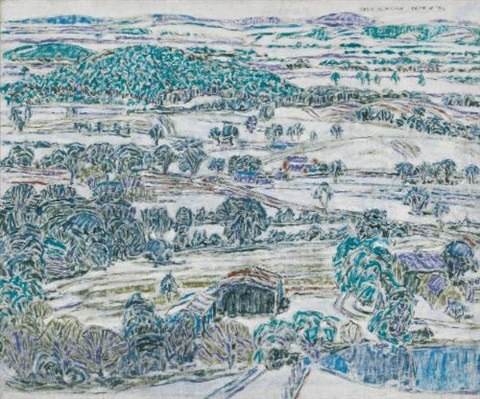 boston corners landscape by david brown milne