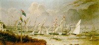 the opening cruise of the royal mersey yacht club, 1847 - the