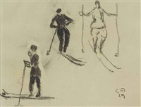 skifahrer by cuno amiet
