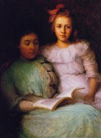 a portrait of lulu m. lufkin and florence m. lufkin by lee lufkin kaula