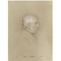 a portrait drawing of william wordsworth (1770-1850) by benjamin robert haydon
