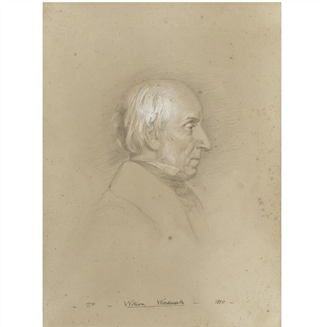 a portrait drawing of william wordsworth 1770 1850 by benjamin robert haydon