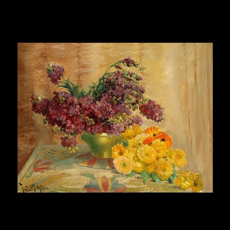 floral still life by theodore p modra