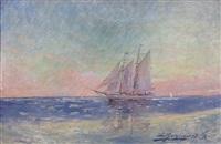 a three masted schooner by luis graner y arrufi