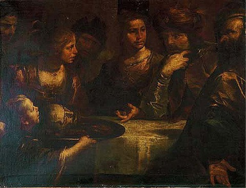 salome presenting the head of john the baptist to herod by gioacchino assereto