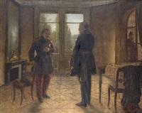 wilhelm i meeting napoleon iii 1870 at castle bellerue near sedan - donchery by wilhelm camphausen