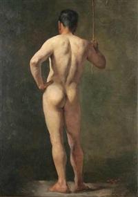 a male nude (study) by jaroslav kosar