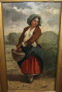 femme aux champs by simon gerard
