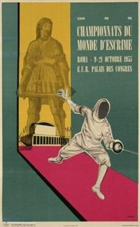 championnats du monde d'escrime (poster) by elio tomei