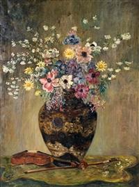 bouquet de fleurs au violon by valentine synave nicolaud (fray) val