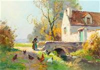 country farm by edouard léon cortès