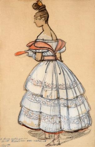 jeune femme en robe de soirée by maxime dethomas