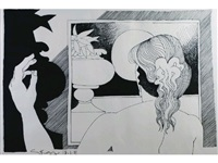 day dreams (from a series of 26 original drawings; set of 26) by geoffrey key