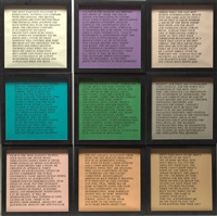 inflammatory essays (set of 9) by jenny holzer