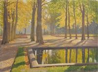 jeux de lumière dans les arbres by mikhail markianovich germanshev