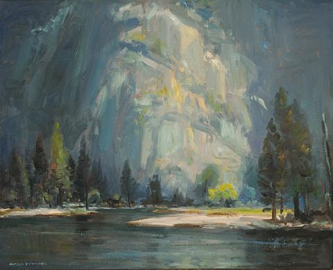 yosemite from camp 16, early morning by alfred richard mitchell