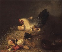 hen and her chicks by mary russell smith