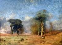 arbres dans la prairie by jules dupré