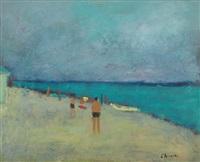 sulla spiaggia by gianrodolfo d'accardi