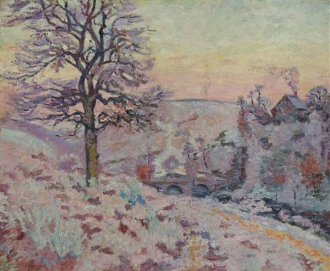 gelée blanche à pontcharraud by armand guillaumin