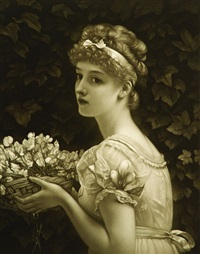 blossoms (after sir edward poynter) by minnie cormack